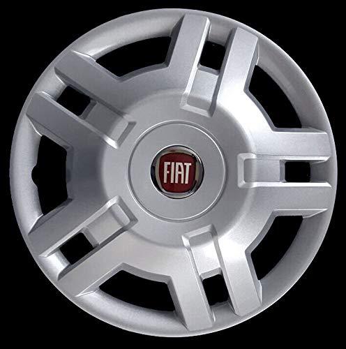 Generico Fiat DUCATO COPRICERCHIO BORCHIA Uno (1) FURGONI E Camper 1300 Diametro 15 Logo Rosso