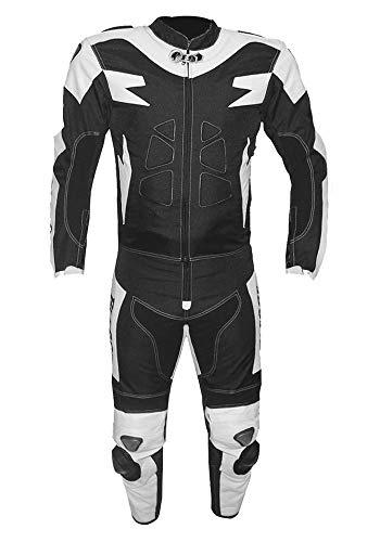 BIESSE - Traje de moto para adulto de piel y tela, divisible...