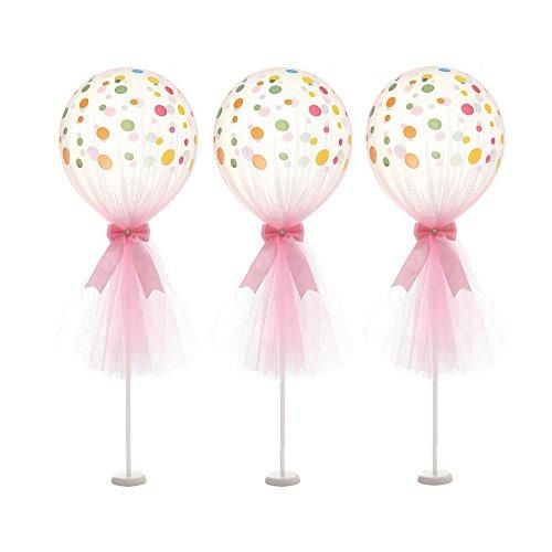 Zhuhaimei,12 inch tulli polka dot palloncino kit per una festa di san valentino per il compleanno(color:rosa)