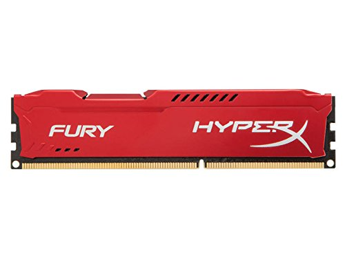 Kingston HyperX Fury - Memoria RAM (DDR3, 1333 MHz, 4 GB, CL9), rojo