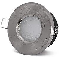 Faretto da incasso IP65 colore: acciaio inox spazzolato 230 V attacco GU10 (senza lampadina) per LED e lampadine alogene 49 - 51 mm materiale: alluminio