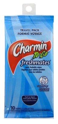 Charmin To Go Flushable Toallitas 10Clipstrip Count (9piezas)