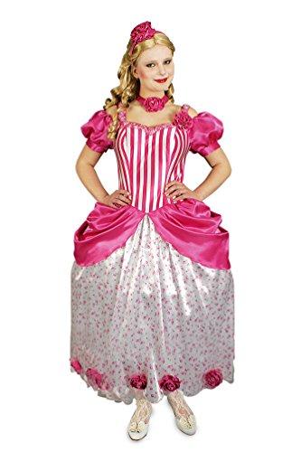 Karneval-Klamotten Prinzessin Kostüm Damen rosa Prinzessin Kleid Damen rosa Märchen-Prinzessin Viktorianische Prinzessin Karneval Damen-Kostüm Größe 36/38