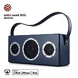 GGMM M4 Altoparlante senza Fili WiFi+Bluetooth Stereo Portatile per Musica in Streaming, Batteria incorporata, Potente 40W Audio Driver, Bass Boost, Multiroom Play