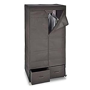 relaxdays stoff faltschrank stoffschrank k che haushalt. Black Bedroom Furniture Sets. Home Design Ideas