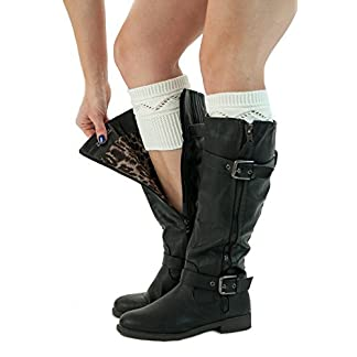 Best Selling Knit Boot Cuffs Crossover Pattern Boot Toppers by Modern Boho 12