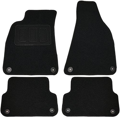 Tapis de voiture tapis auto velour Noir AM7174p
