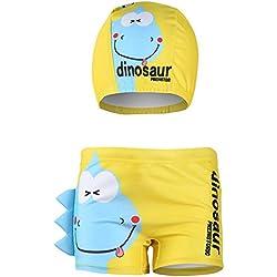 Shorts de baño para niños Troncos de baño para niños pequeños boxeadores de natación para niños Dibujos animados en 3D Disfraz De Dinosaurio Cangrejo Impreso Yw2 12-18 Meses