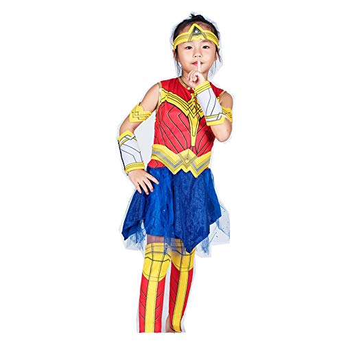 Halloween Kostüm Wonder Woman Cosplay Performance S-L 110-140 cm ()