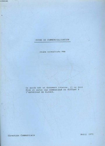 GUIDE DE COMMERCIALISATION - ETUDE NORMALISEE PME