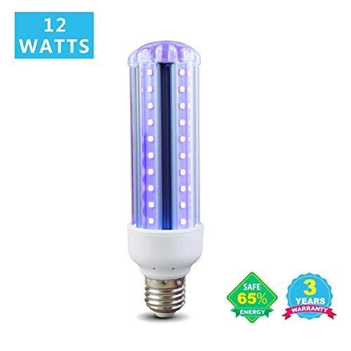 tel, 12W E26(85V-265V AC-UV-Glowing LED Energiesparend Leuchtmittel für Halloween, Glow-Party, Hotel ()