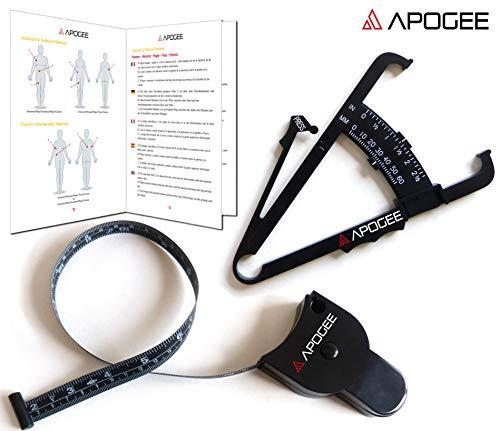 APOGEE - Medidor grasa corporal tabla medición, manual