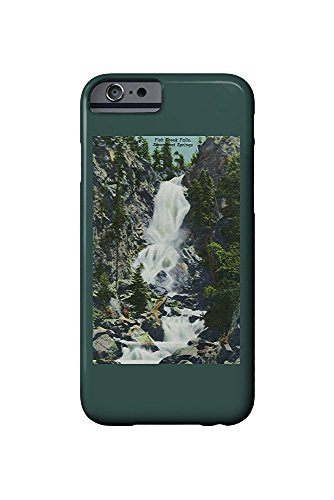 Steamboat Springs, Colorado - View of Fish Creek Falls - Vintage Halftone (iPhone 6 Cell Phone Case, Slim Barely There) -