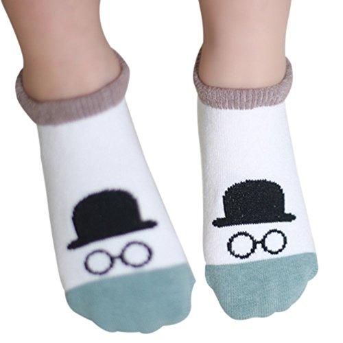 MORESAVE Ragazze dei neonati calzini caldi del fumetto del cotone antiscivolo Calzini 0-3Y