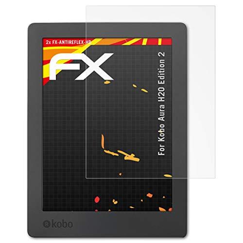 atFolix Schutzfolie kompatibel mit Kobo Aura H2O Edition 2 Displayschutzfolie, HD-Entspiegelung FX Folie (2X)