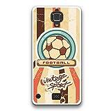 FidelStick® für Hisense C20 King Kong II 4G Silikon Hülle, Flexible Gel Schutzhülle aus bestem Silikon gefertigt, Vintage Fußball