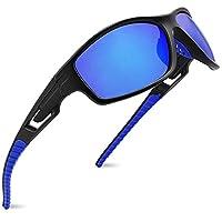 MAXJULI Polarized Sports Sunglasses for Men Women Tr90 Frame for Running Fishing Baseball Driving MJ8013