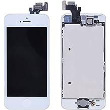 LL Trader para iPhone 5 de repuesto pantalla LCD digitalizador de pantalla táctil + Shield plato + garaje (Cámara frontal + botón de inicio + Sensor cable) pre-montado + incluye herramientas