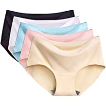Imixcity Lot de 2 5 6 Femme sous-Vêtements Bas Shorty Culotte Invisible ba002358284