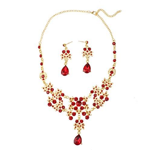 matrimonio-gioielli-da-sposa-collana-di-cristallo-strass-rosso-e-orecchini-set-oro