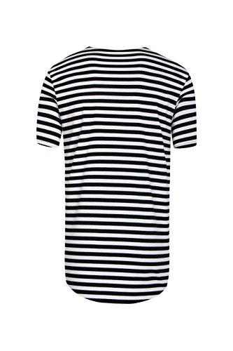 Pizoff Unisex Hip Hop Urban Basic Langes T Shirts mit Tarnmuster Y1724-Black
