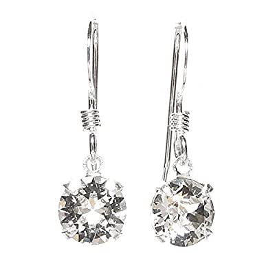 925 Sterling Silver fishhook earrings expertly made with sparkling crystal from SWAROVSKI® for Women
