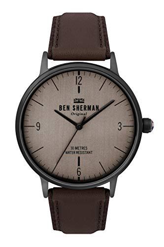 Ben Sherman Hommes Analogique Quartz Montre avec Bracelet en Cuir WB021TB