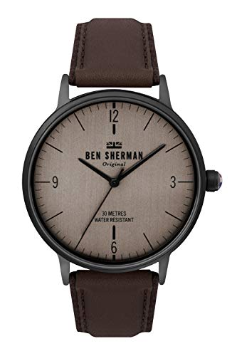 Ben Sherman Herren Analog Quarz Uhr mit Leder Armband WB021TB