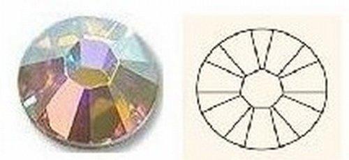 SS5–ab klar–Echte Swarovski Hotfix Flatback Kristalle (1,70–1,90mm–60Kristalle)–001ABF 2058Zilion Rose–andere Größen/Farben aufgeführten (Xilion Crystal)