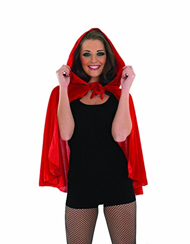 Riding Hood Kostüm Cape Red - Halloween Red Riding Hood Cape costume Adult Fancy Dress