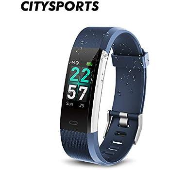 CITYSPORTS Reloj Inteligente, Smartwatch Impermeable IP68,Pulsera de Actividad Inteligente Pantalla a Color,