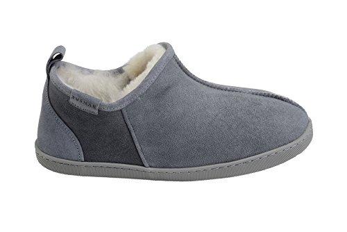 Pantofole Stivaletti Lussuose in Vera Pelle di Pecora Foderati con Autentica Pelliccia da Uomo