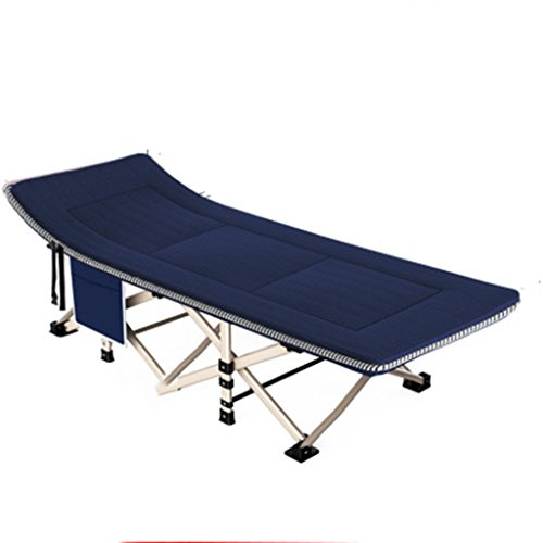 Ren Chang Jia Shi Pin Firm Chaise Pliante extérieure Sieste inclinable lit Siesta Chaise Portable Loisirs Chaise Dossier pêche Chaise Camping Plage inclinable 190 * 67 * 35 cm (Color : Blue)