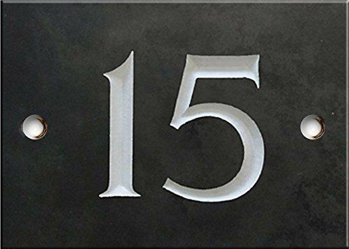 Schiefer Zahlen - 1 bis 20 (wählen Sie hier Ihre Nummer) - nummer 15