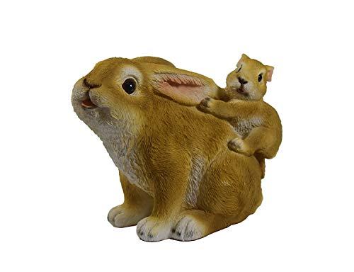 Hase Osterhase Hasen Baby Kaninchen Deko Garten Figur Dekohase Kind Skulptur