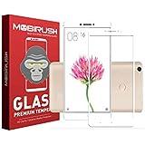 Mobirush Premium 9H Hardness Edge To Edge || Full Glue || Full Gum || No Rainbow Effect ||Tempered Glass Guard For Redmi Mi Max || Mi Max Prime - White