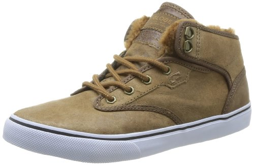 Globe Motley Unisex-Erwachsene Hohe Sneakers, Braun (destressed brown fur 16217), 43 EU / 10 US (Distressed Turnschuhe Leder)