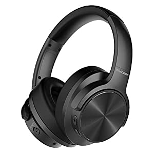 Mixcder E9 Wireless Active Noise Cancelling Headphones Foldable Headset (Dual 40mm Drivers, Bluetooth CSR, Comfortable Protein Earpads, 30 Hours Battery Life), Black