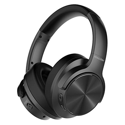 Mixcder E9 Cuffie Bluetooth con Cancellazione del Rumore attivo,Cuffie Wireless con microfono Hi-Fi stereo Headset Deep Bass wireless cuffie over Ear per PC/cellulari/TV – nero