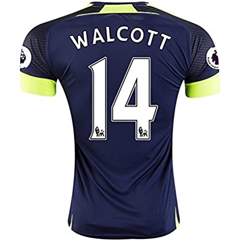 2016 2017 Arsenal 14 Theo Walcott The Third Away Football Soccer Jersey In Navy For New Season
