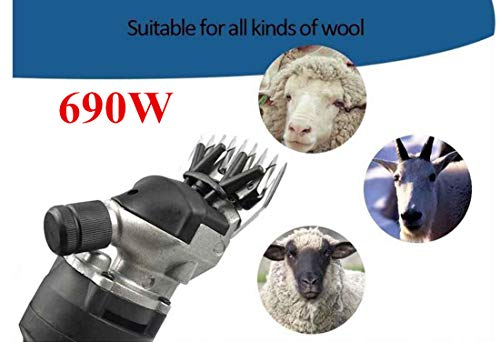 Vinteky 320 W - Cortapelos de ovejas y máquina cortapelos para ovejas y Tijeras de Oveja