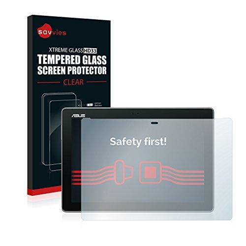 pellicola tablet asus zenpad 10 Savvies Vetro Temperato Compatibile con ASUS ZenPad 10 Z300CG Pellicola Protettiva - Durezza 9H