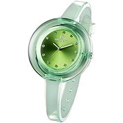 OPSOBJECTS · OPS!NUDE WATCHES · Armbanduhr | Uhrarmband | Uhrband · grün transparent silber