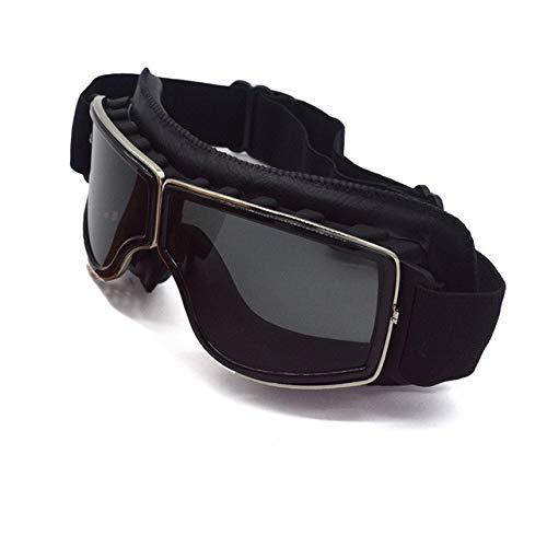 DFGDH Motorrad Schutzbrille Motorradbrille Pilotenhelm Eyewear Vintage Brille Motorrad Sonnenbrille Gläser 4 Farblinse -