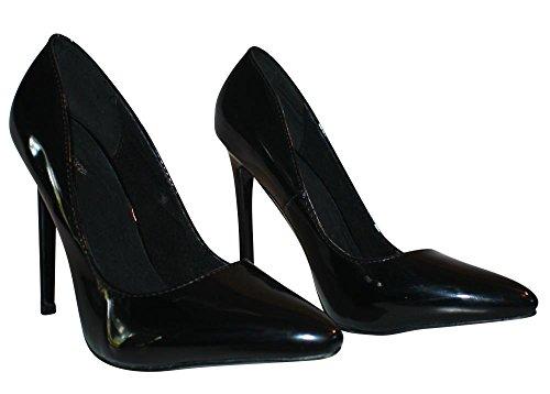 Erogance Lack High Heels Pumps - Zapatos de vestir de Material Sintético para mujer