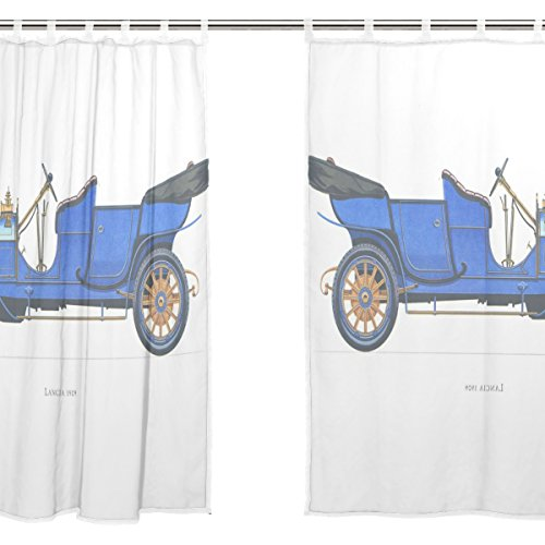 jstel-2pezzi-tenda-in-voile-colore-blu-vintage-hispano-suiza-auto-tulle-sheer-curtain-drape-valance-