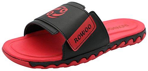 ROWOO ,  Herren Peep Toes Rot
