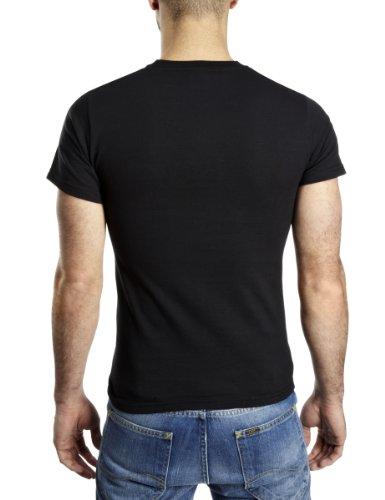 Plastichead - T-shirt da uomo Nero (Schwarz (Black))