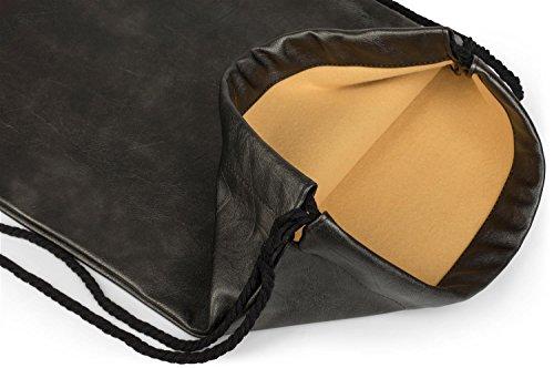 styleBREAKER borsa sportiva in pelle sintetica, borsa sportiva, zaino, bauletto, unisex 02012189, colore:Blu Antico-Grigio scuro