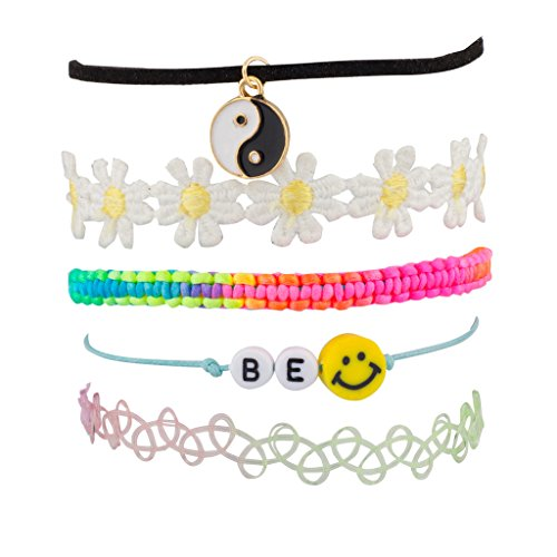 lux-accessories-peace-be-happy-smile-rainbow-price-sunflower-floral-flower-woven-arm-candy-bracelet-